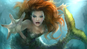 Here's a mermaid I am working on... by chrisscalf