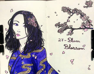 27- Plum Blossom by Eilerinn