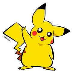 Pikachu says Hi! by stephanbradshaw