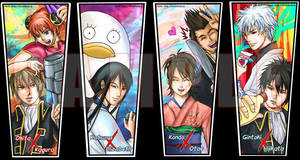 Gintama OTP bookmarks by silpholion
