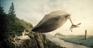 The last flying whales by Wolves-PSD