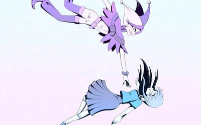 Glitter Force Joker x Reika by Shainilia
