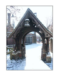 arch in the snow by sourhaze