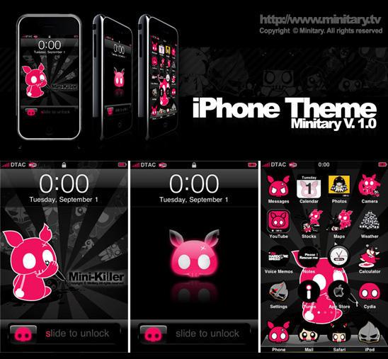 Minitary iPhone theme v.1.0 by minitary