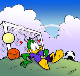 Plucky goalkeeper by JuneDuck21