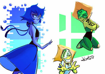 Lapis and Peridot by JuneDuck21