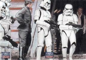 Star Wars G7 - Stormtroopers (2pc) Sketch Art Card by DenaeFrazierStudios