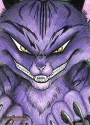 Wonderland - Cheshire Cat Sketch Art Card by DenaeFrazierStudios
