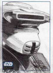Star Wars G6 - Leia Boushh Sketch Art Card by DenaeFrazierStudios