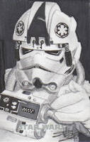 AT-AT Driver Sketch Card - Star Wars by DenaeFrazierStudios