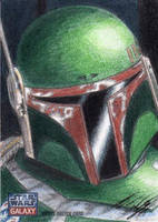 Star Wars G7 - Boba Fett Sketch Art Card by DenaeFrazierStudios
