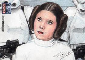 Star Wars G7 - Princess Leia Sketch Art Card 2 by DenaeFrazierStudios