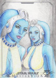 SW Masterwork - Twi'lek Slaves (Ann - Tann Gella) by DenaeFrazierStudios