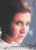 Star Wars Masterwork - Leia Sketch Art Card 4 by DenaeFrazierStudios