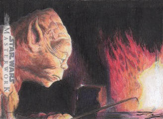 Star Wars Masterwork - Yoda Sketch Art Card 3 by DenaeFrazierStudios