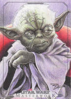 Star Wars Masterwork - Yoda Sketch Art Card 2 by DenaeFrazierStudios