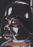 SW Masterwork - Darth Vader (Wood) Sketch Card by DenaeFrazierStudios