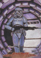 SW Masterwork - Stormtrooper (Wood) Sketch Card by DenaeFrazierStudios