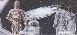 Star Wars Illustrated: TESB-C-3PO-R2-D2-Luke-Leia by DenaeFrazierStudios