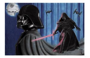 In Vader's Shadow - Darth Vader and Kylo Ren by DenaeFrazierStudios