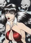 All New Vampirella Sketch Art Card 8 by DenaeFrazierStudios