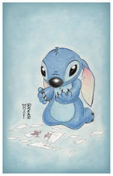 Sad Stitch by DenaeFrazierStudios