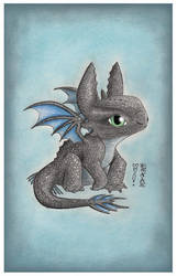 Baby Toothless by DenaeFrazierStudios