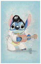 Stitch Elvis by DenaeFrazierStudios