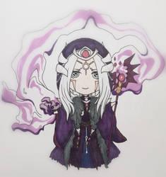 Chibi Warlock Swoksaar by GreenNote