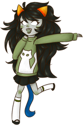 Meulin with her cute sweater by kinrikit