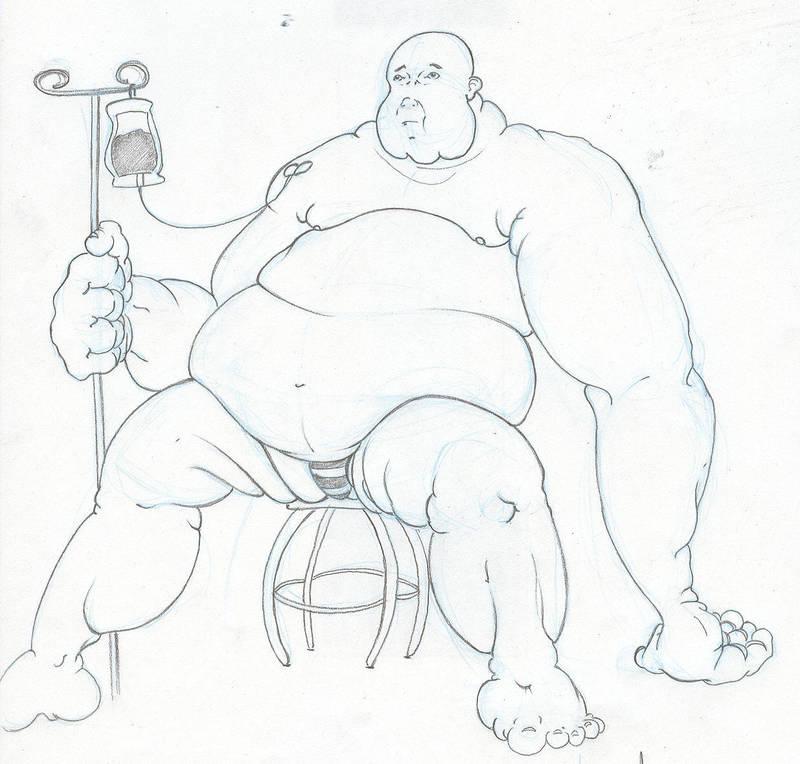 Obese Sick Man By Mhaeve On Deviantart