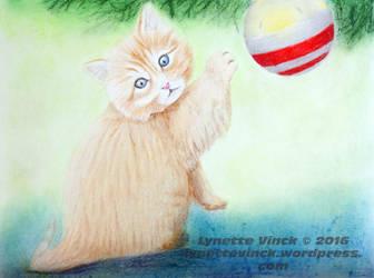 Mischievous Kitten by whiterayven