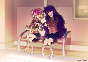 Reading Manga by RemiReckless