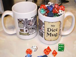 Dungeon Map 'My Dice' Mug by billiambabble