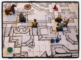 Large scale geomorphs test with Lego minifigs by billiambabble