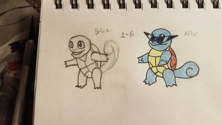 Pokemon-A-Day #007: Squirtle by GarrodWindfang