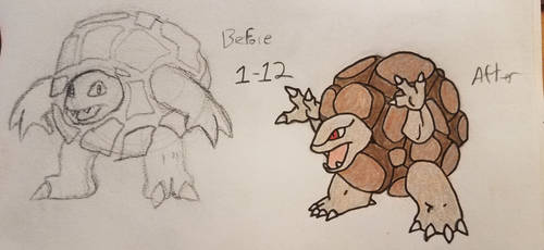 Pokemon-A-Day #076: Golem by GarrodWindfang