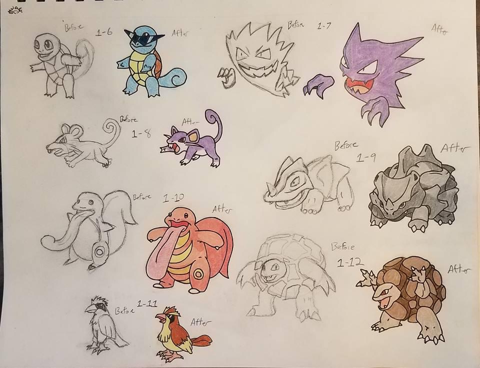 Pokemon-A-Day Week 2 by GarrodWindfang