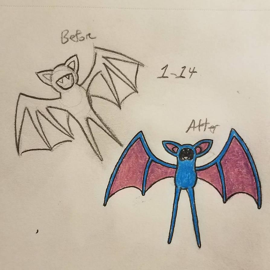 Pokemon-A-Day #041: Zubat by GarrodWindfang
