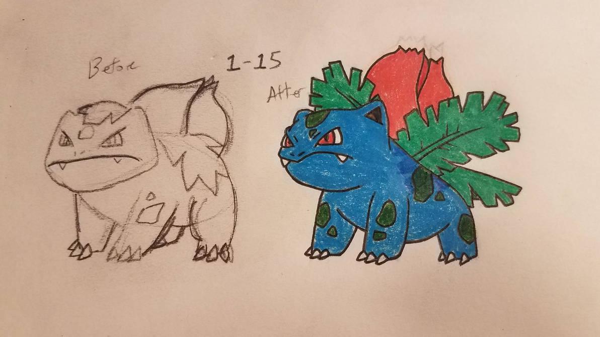 Pokemon-A-Day #002: Ivysaur by GarrodWindfang