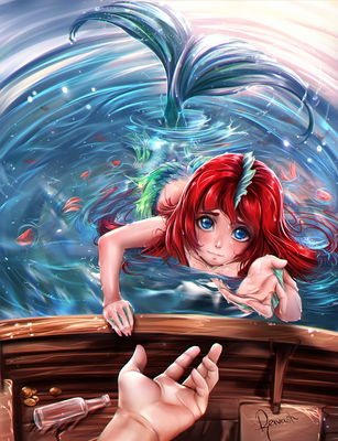 The lonely Mermaid - Commission by Reivash