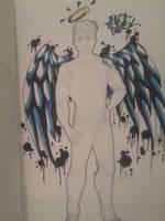 .:New Year's Graffiti:. Angel by Melomiku