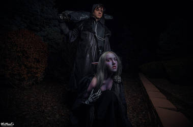 Sylvanas with Deathknight 2 by Chauncaaa