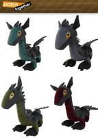 Dark Dragon Plush Preorder by thazumi