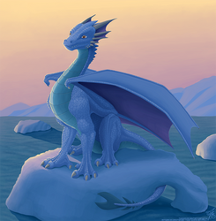Proud Polar Dragon Sunrise by thazumi
