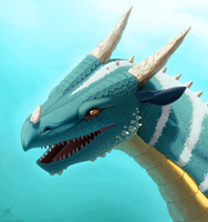 Dragon Portrait Painting by thazumi