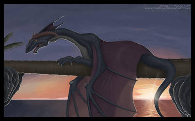 sunset rest by thazumi
