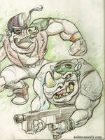 BEBOP and ROCKSTEADY Sketch by DadaHyena