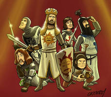 Monty Python and the Holy Grail work-in-progress by DadaHyena