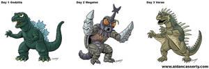 Kaiju Month Part 1 by DadaHyena